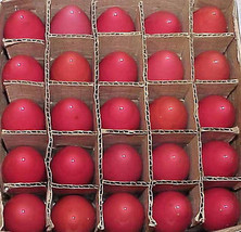 25 Vintage C-9 Ceramic RED Christmas Replacement Light Bulbs C9 - Box # 14 - $25.00