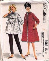 1962 ROBE or JACKET & PANTS Pattern 6588-m Size 12 - Complete - $9.99