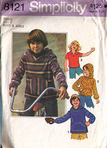 1977 PULLOVER TOPS Pattern 8121-s Child Size 7 - Complete - $9.99