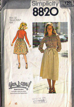 1978 BACK-WRAP SKIRT Pattern 8820-s Girl Size 12 - Complete - $9.99