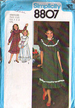 1978 DRESS Pattern 8807-s Girl Size 12 - Complete - $9.99