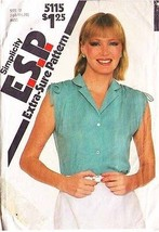 1981 BLOUSE Pattern 5115-s Sizes 16 - Complete - $9.99