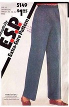 1981 PULL-ON PANTS Pattern 5149-s Waist Size 30-32-34  -  Complete - $9.99