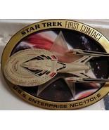 Star Trek Sculptural 3D Hamilton Plate First Contact - $174.99
