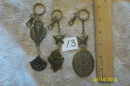 # purse jewelry bronze color keychain backpack dangle charms #13 lot of 3 image 1