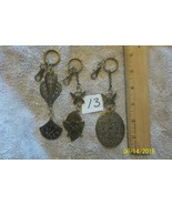 # purse jewelry bronze color keychain backpack dangle charms #13 lot of 3 - $6.23