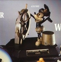 "Disney  Anri Steamboat Willie Mickey Mouse  woodcarving from  Italy 6"" high - $483.74"