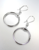 CHIC & ELEGANT! Designer Inspired Silver Plated Horsebit Ring Dangle Ear... - $18.99