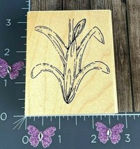 CTMH Co. Bulbs In Bloom Line Art Plant Rubber Stamp Lily Spring Garden #F68 - $3.71
