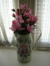 Classic Style, Tin Pitcher Vase with Flowers - $18.95