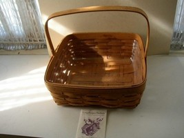 "1994Beautiful, Signed JBM, Longaberger 12"" x 12""  Basket with Liner and Pamphlet - $56.95"