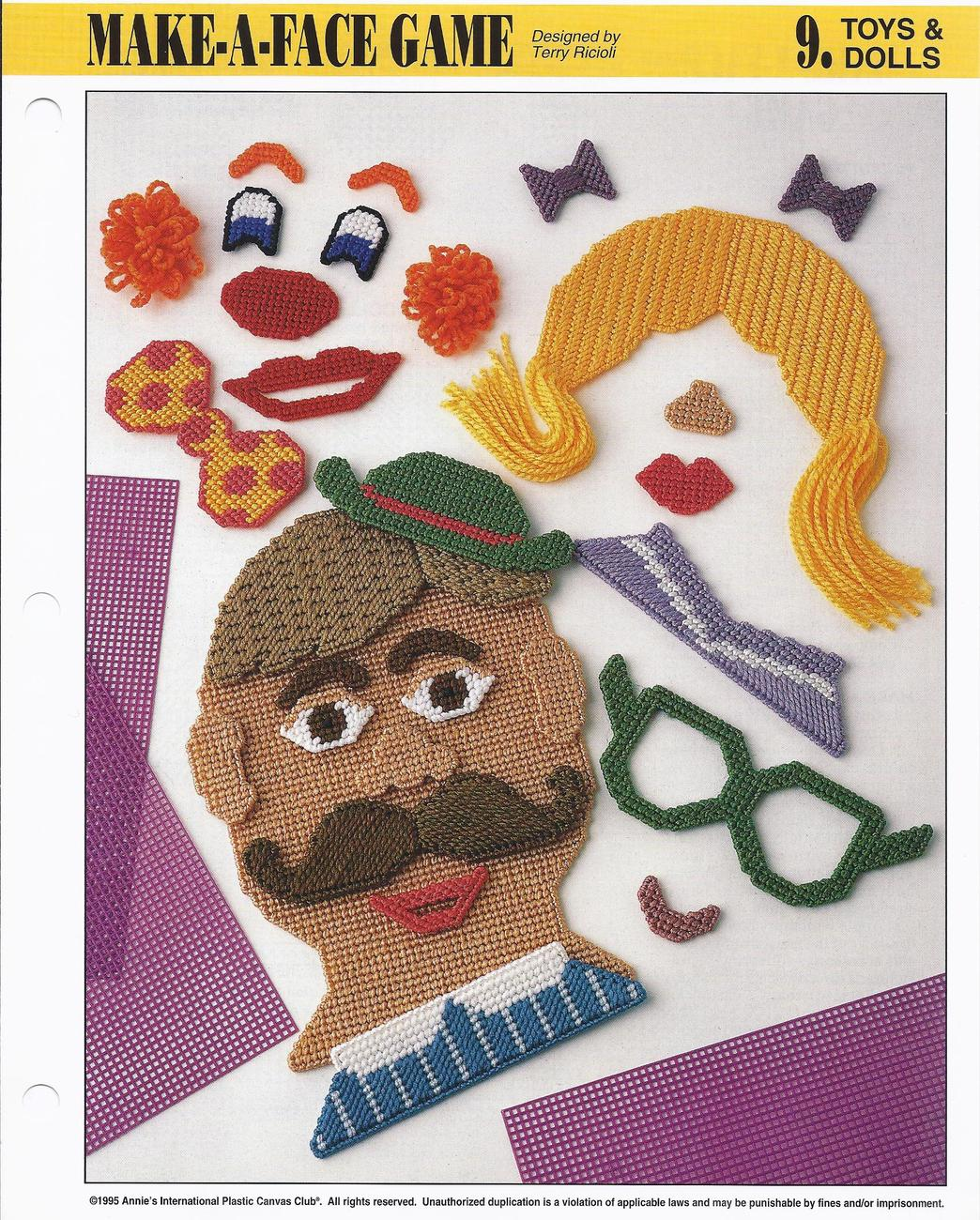 Primary image for Make a Face Game~Annie's International Plastic Canvas Club Pattern