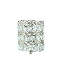 Eternity Small Clear Crystals Candle Holder - $21.00