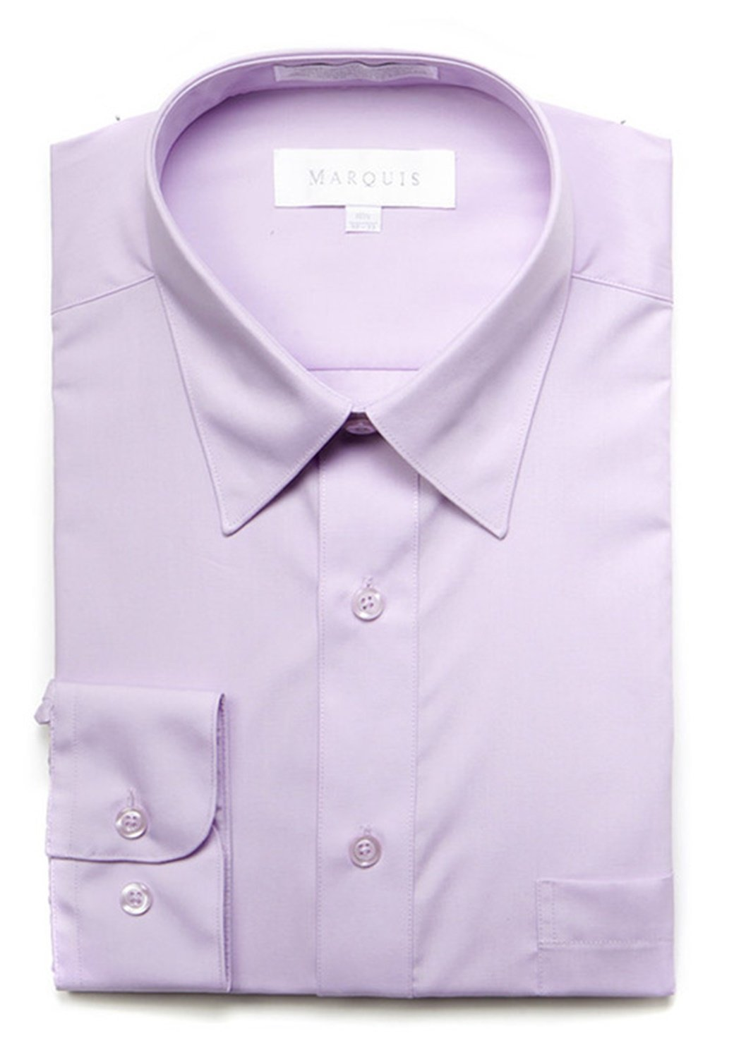 Primary image for Marquis Men's Lilac Long Sleeve Regular Fit Dress Shirt