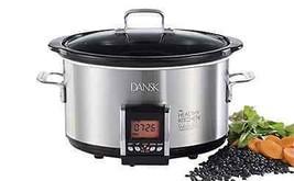 Kitchen Slow Cooker 5 Quarts Programmable Crock Pot Dishwasher Safe w/ R... - $256.38