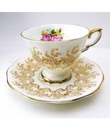 Vintage 1940s ROYAL STANDARD Golden Rose Bouque... - $58.99