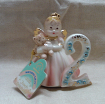 Vintage JOSEFS ORIGINALS Birthday Girl Age 2 Figurine - Birthday Angel Cake Topp - $13.00
