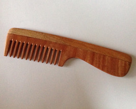 Aromatic Neem Wood Beard Comb Wide Tooth Organic Anti Static Massage UB'... - $12.00