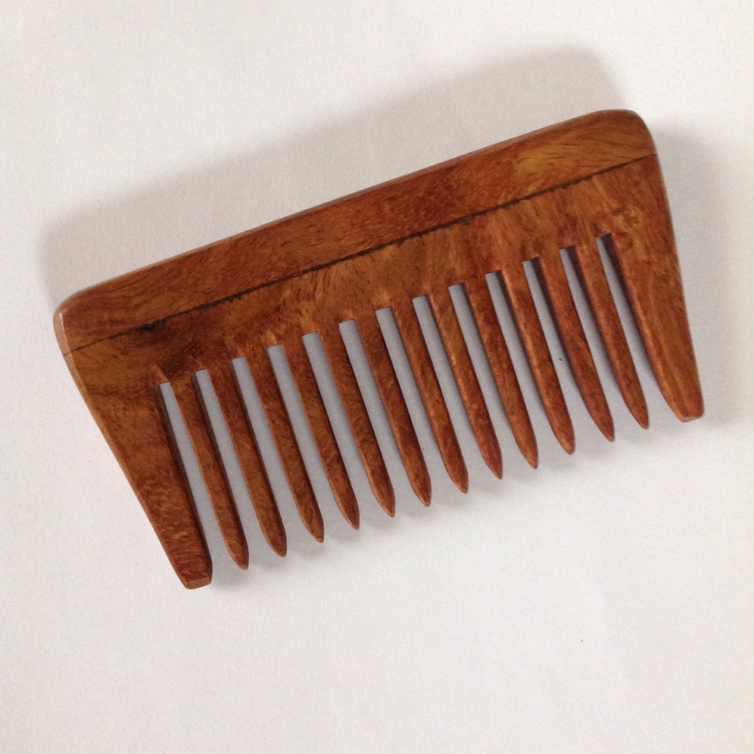 Organic Rosewood Wide Tooth Beard Comb  UB's Beard Basics Antistatic Massaging - $15.00