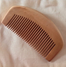 Organic Natural Peachwood Pocket Travel Size Beard Comb UB's Beard Basics Anti S - $7.50