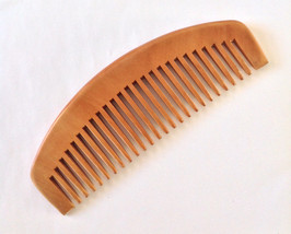Organic Natural Peach Wood Wide Tooth Beard Comb UB's Beard Basics Anti Static M - $15.00