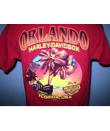 Harley-Davidson Red T-Shirt Large Orlando, Florida - $20.00