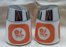 Vintage DISPENSERS INC. Milk Glass with Orange ... - $12.00
