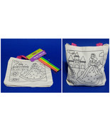 Color Your Own Canvas Tote Bag With 4 Markers Princess Castle Kids Arts ... - $3.95
