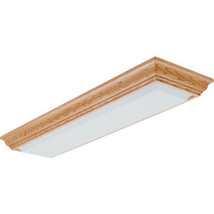 4' Four Light T8 Fluorescent Crown Molding Style Wood Frame Fixture - Oak  - $289.99