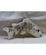 Vintage Shell Art Abalone Shell Plastics Resin Fish Trout Wall Hanging - $8.00