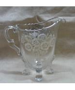 Vintage Silver Overlay Crystal Cream Pitcher Sterling On Crystal Floral ... - $7.50