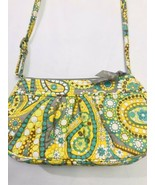 Vera Bradley Handbag Purse Yellow Green Floral Bag Crossbody - $23.75