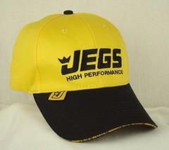 JEGS High Performance Yellow Black Baseball Hat Cap EUC Shipped in Box - $8.98