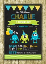 Little Monster Personalized Printed Birthday Invitations - $10.00