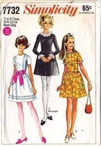 1968 DRESS Pattern 7732-s Teen Size 13/14 - Complete - $9.99
