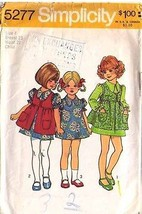 1972 DRESS & SMOCK Pattern 5277-s Child Size 4 - Complete - $9.99