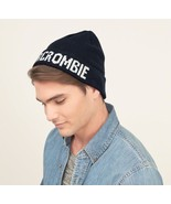 "Abercrombie & Fitch A&F FOLDOVER BEANIE Navy LR100 ""One Size"" - $19.79"