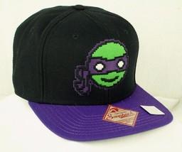 Teenage Mutant Ninja Turtle Black Baseball Hat Cap TMNT Totally Donatelllo NWOT - $12.99