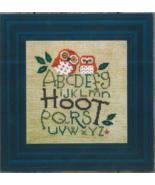 Hoot owl sampler cross stitch chart Bent Creek  - $9.00
