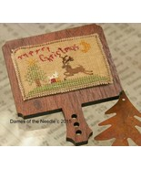 Merry Christmas Ornament Hornbook cross stitch chart Dames Of The Needle - $7.00
