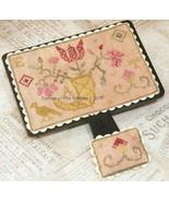 Quaker Flower Hornbook & Pincushion cross stitch chart Dames Of The Needle - $6.75