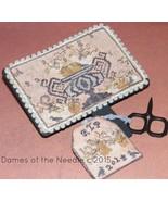 Fall Pumpkins Hornbook & Scissor Fob cross stitch chart Dames Of The Needle - $6.75