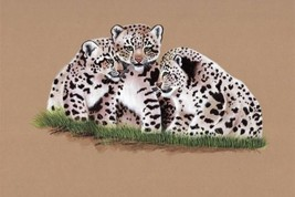 White Bengal Tiger Cubs Painting Hand Painted Wild Life Indian Miniature... - $79.98