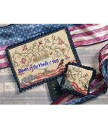 Black Hornbook for Flag and Flowers Hornbook chart Dames Of The Needle - $10.00