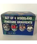 Woodland Pinecone Wildlife Animals Ornaments - Set of 4 - $12.99