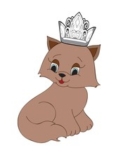Cat with Crown2-Digital clipart.  - $4.00