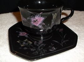 "Mikasa  ""Ebony Meadows"" cup and saucer Color Tr... - $9.89"