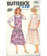 Butterick 3620 Misses Jumper and Top - Size 8-10-12 and 14-18 UNCUT - $2.00