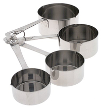 Stainless Steel Measuring Cups - Modern Kitchen 4 Piece Set - Accurate M... - £15.29 GBP