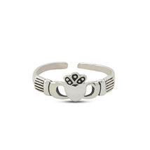 New Stylish Adjustable Jewelry 925 Silver Women's Design Claddagh Toe Ring - $9.99